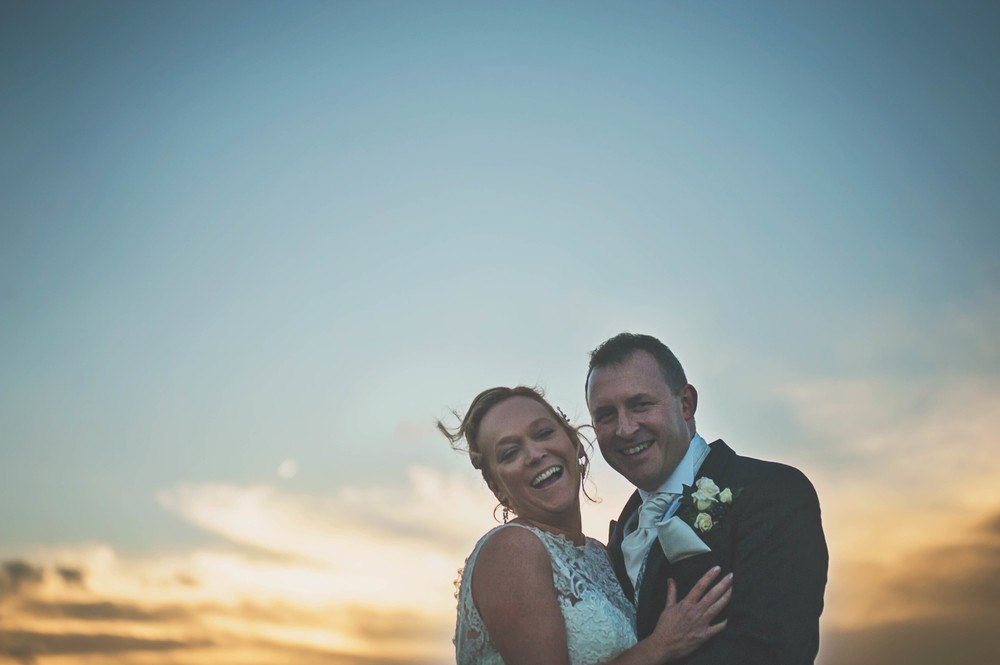 Three Flowers Photography Maidens Barn Essex Wedding Bride Groom Golden Hour Sunset