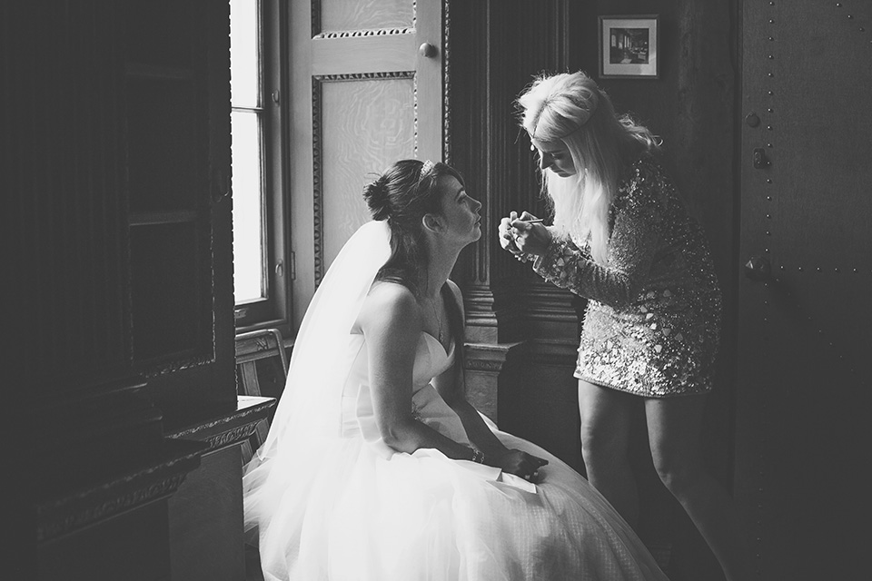 Three Flowers Photography Gosfield Hall Essex Wedding Bride Make up