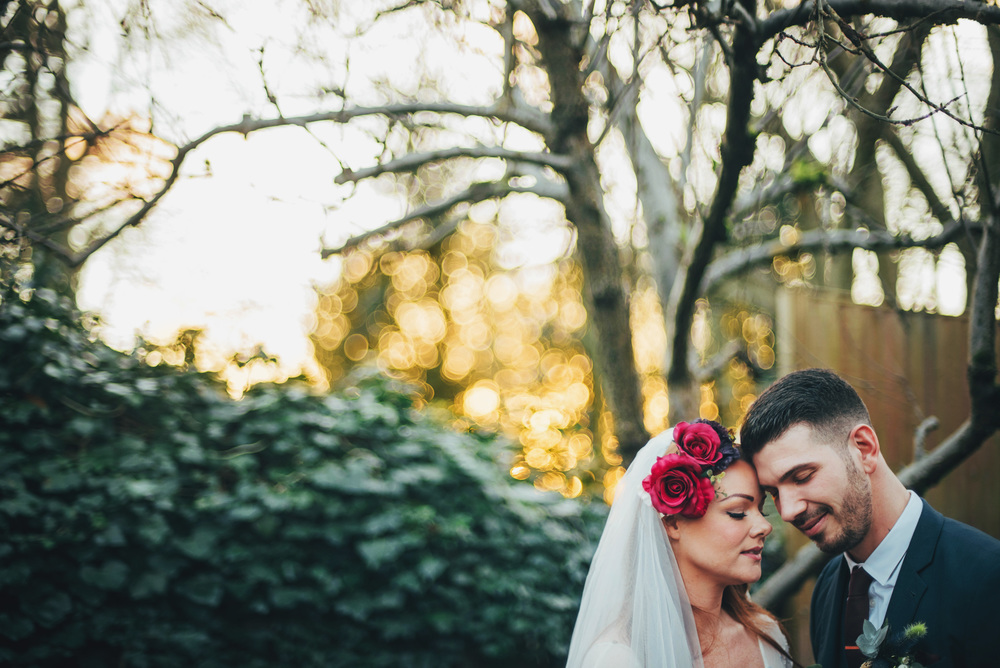 Vintage Christmas London pub sunset Essex UK Documentary Wedding Photographer