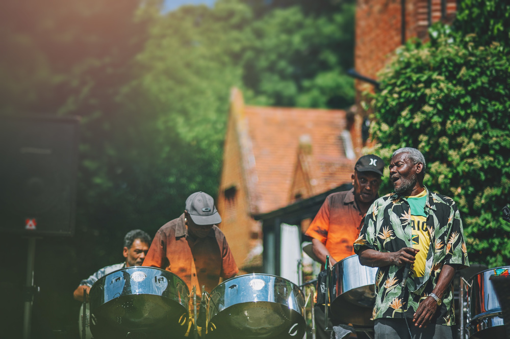 Steel Band at Wood Hall Suffolk Essex UK Documentary Wedding Photographer