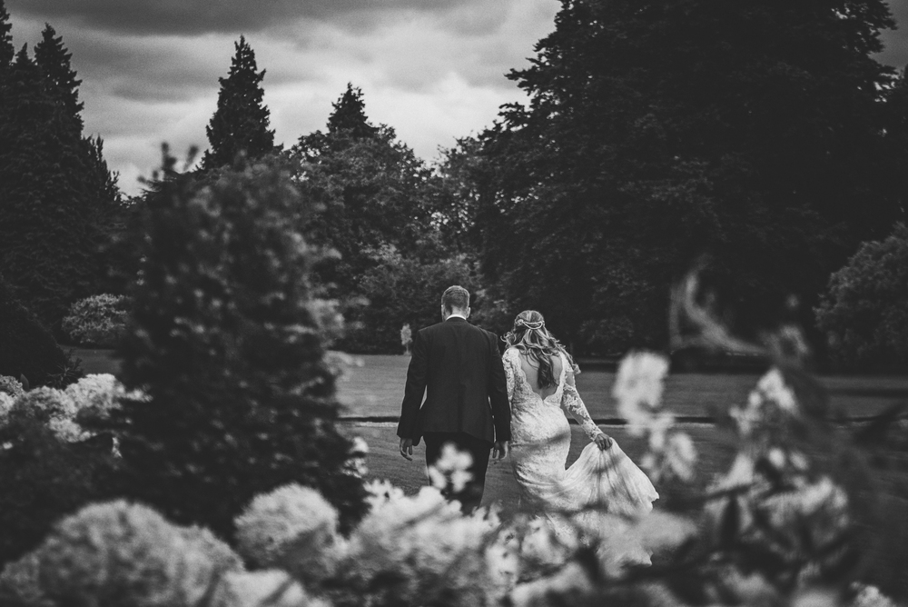 Bride Groom Garden Rustic Essex UK Documentary wedding Photographer