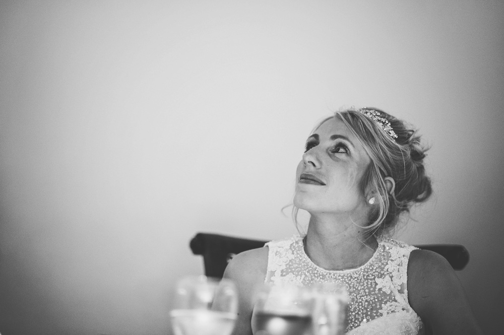 Crying Bride Speeches Wood Hall Suffolk Essex UK Documentary Wedding Photographer