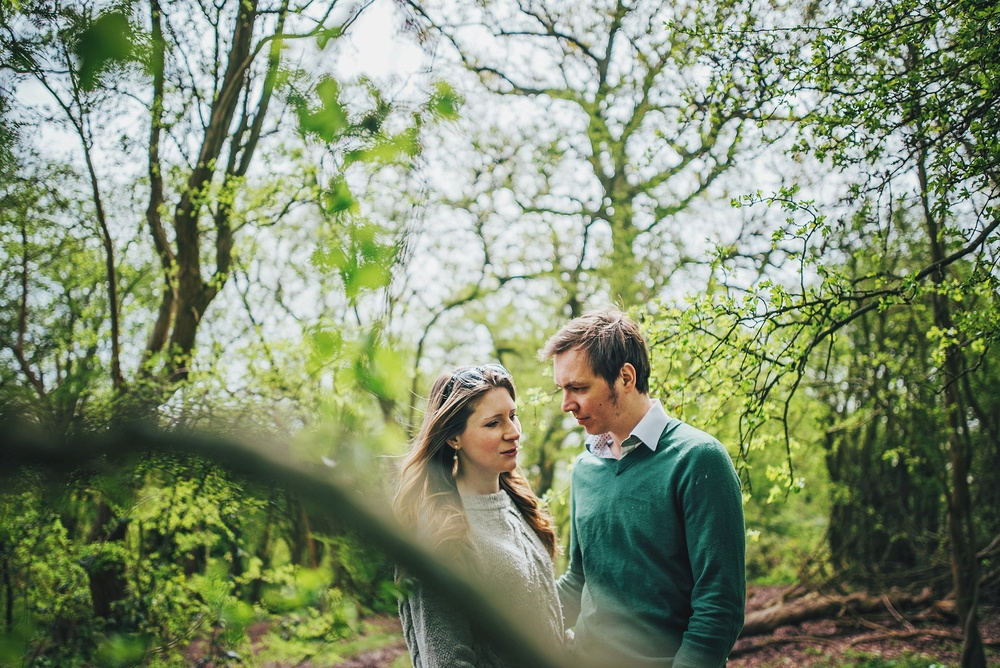 Love Shoot Couple Portraits in Stratford Upon Avon Park Essex UK Documentary Portrait and Lifestyle Photographer