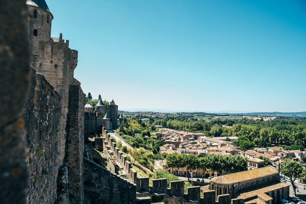 Walls of Carcassonne Citadel France Essex UK Documentary Photographer