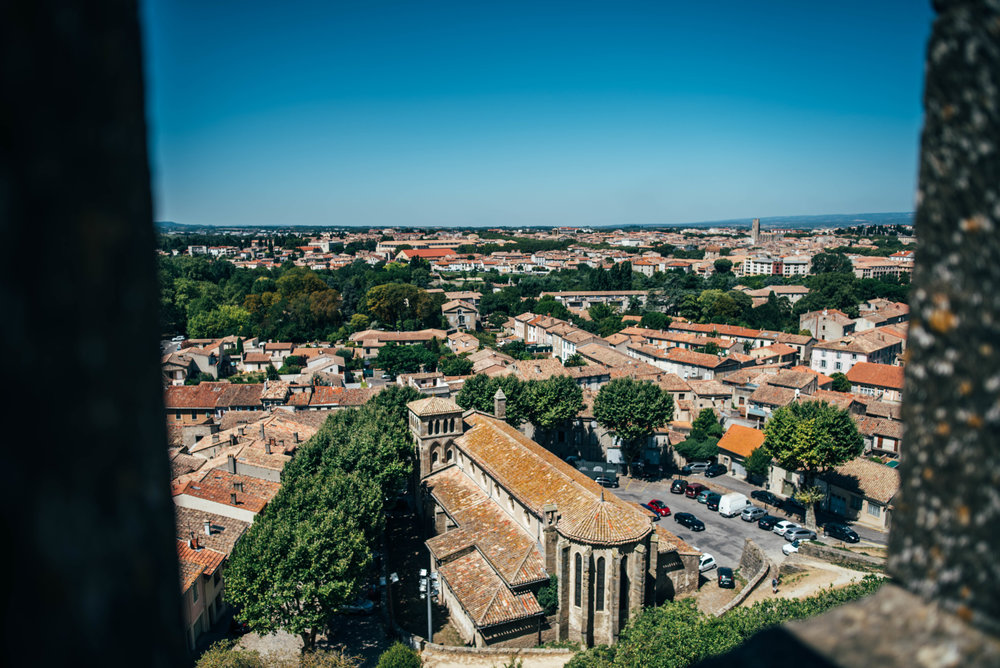 View from Carcassonne Citadel France Essex UK Documentary Photographer