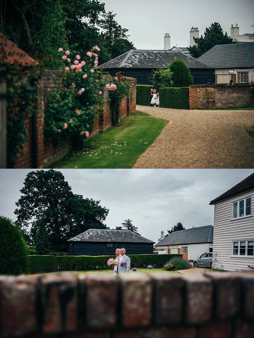 Bride Groom Essex Wedding Photographer Documentary Blake Hall Bride walks to ceremonyw
