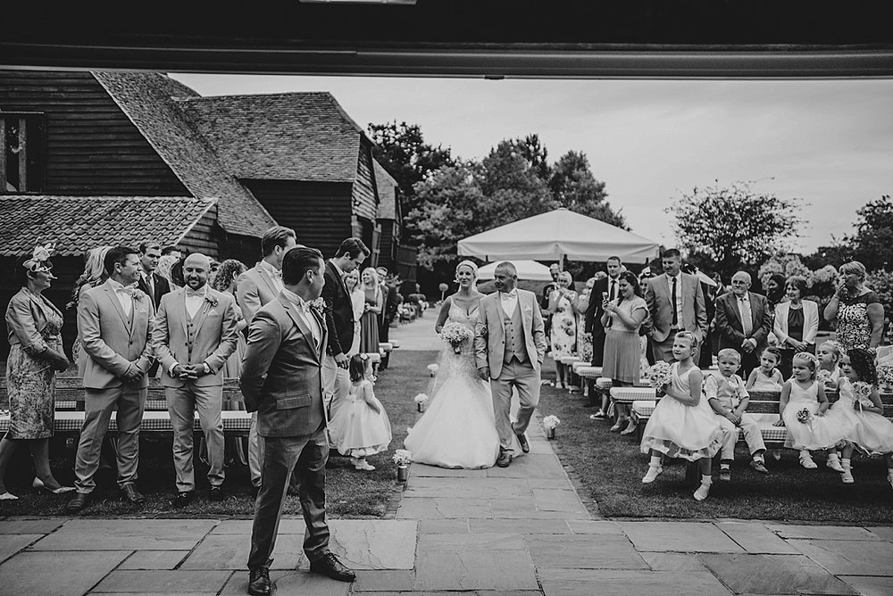 Bride Groom Essex Wedding Photographer Documentary Blake Hall Brides Entrance