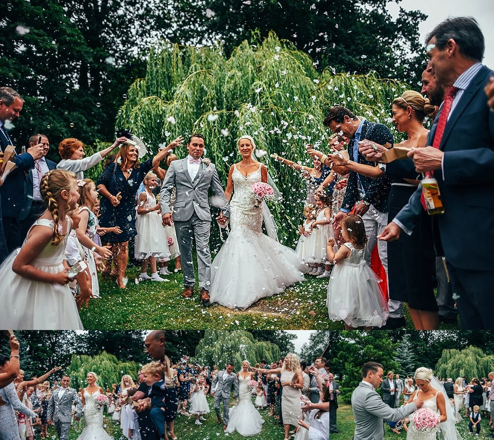 Bride Groom Essex Wedding Photographer Documentary Blake Hall Disney Confetti