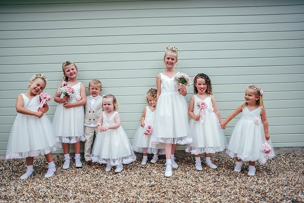 Bride Groom Essex Wedding Photographer Documentary Blake Hall Flower Girls