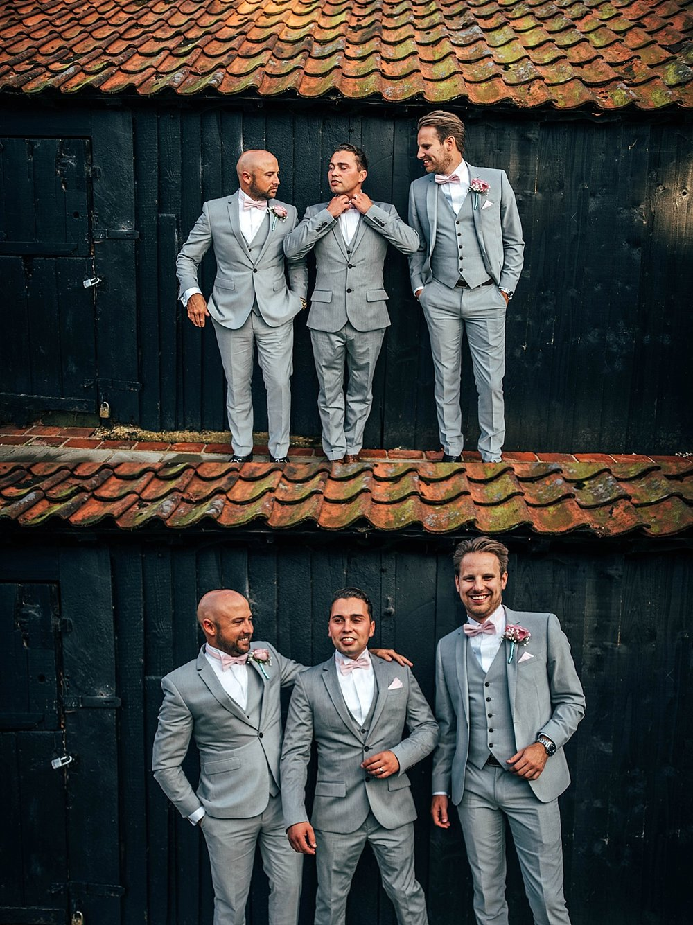 Bride Groom Essex Wedding Photographer Documentary Blake Hall Groom and Groomsmen