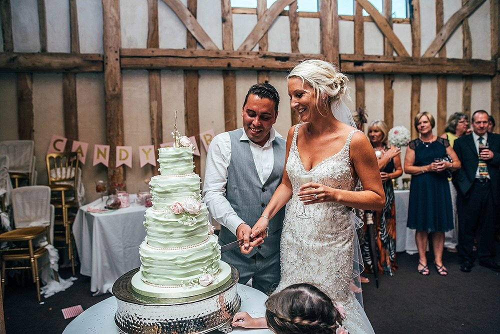 Bride Groom Essex Wedding Photographer Documentary Blake Hall Cake Cut