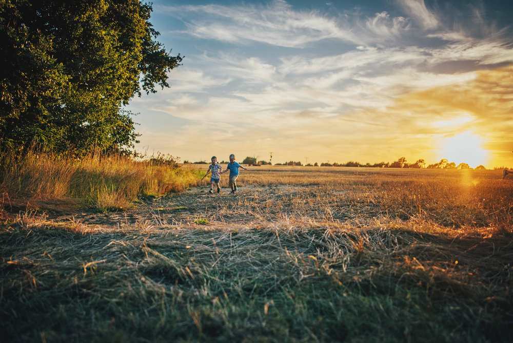 Sunset Golden Hour Summer Family Lifestyle Shoot Essex UK Documentary Portrait Photographer