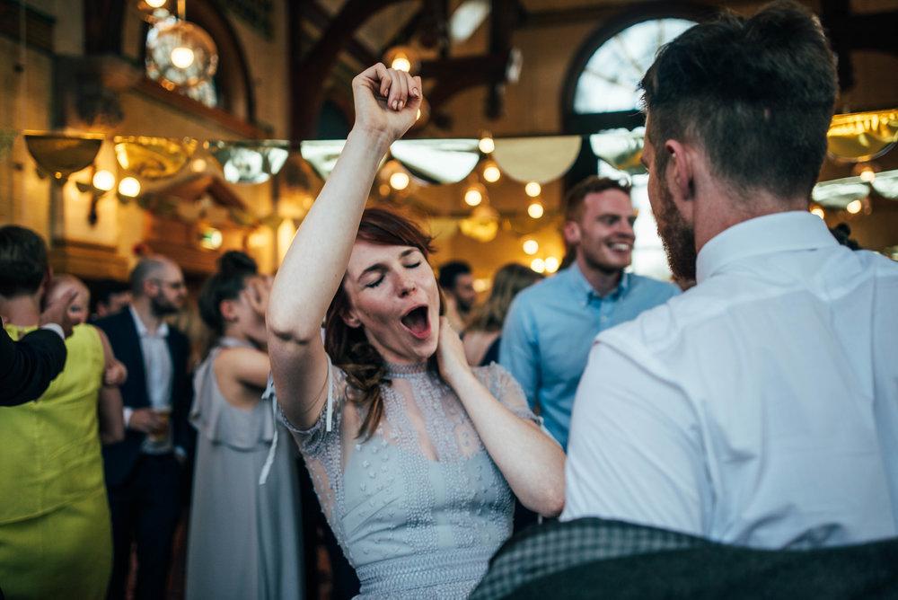 Bride in vintage lilac dress for DIY Hutton Poplar Village Hall Wedding Essex UK Documentary Photographer