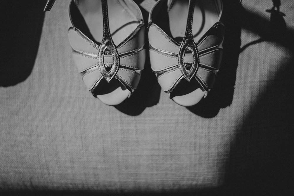 Bridal shoes for Stratford Upon Avon Town Hall Tipi Wedding Essex UK Documentary Photographer