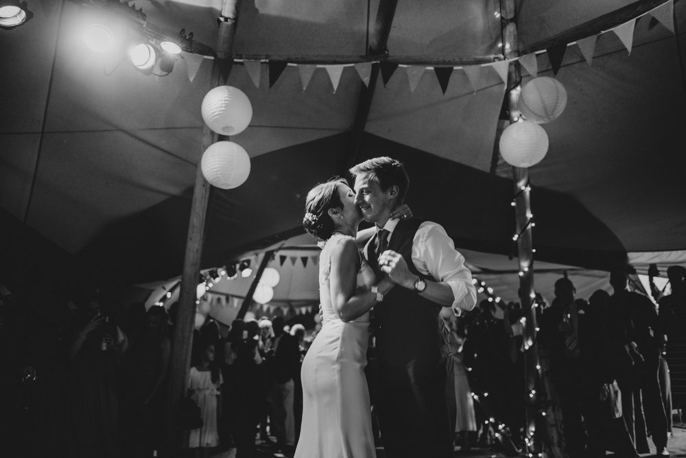 Bride & Groom First Dance Stratford Upon Avon Town Hall Tipi Wedding Essex UK Documentary Wedding Photographer