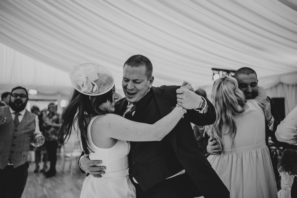 Guests on dance floor at Hylands House Chelmsford Wedding Essex UK Documentary Photographer