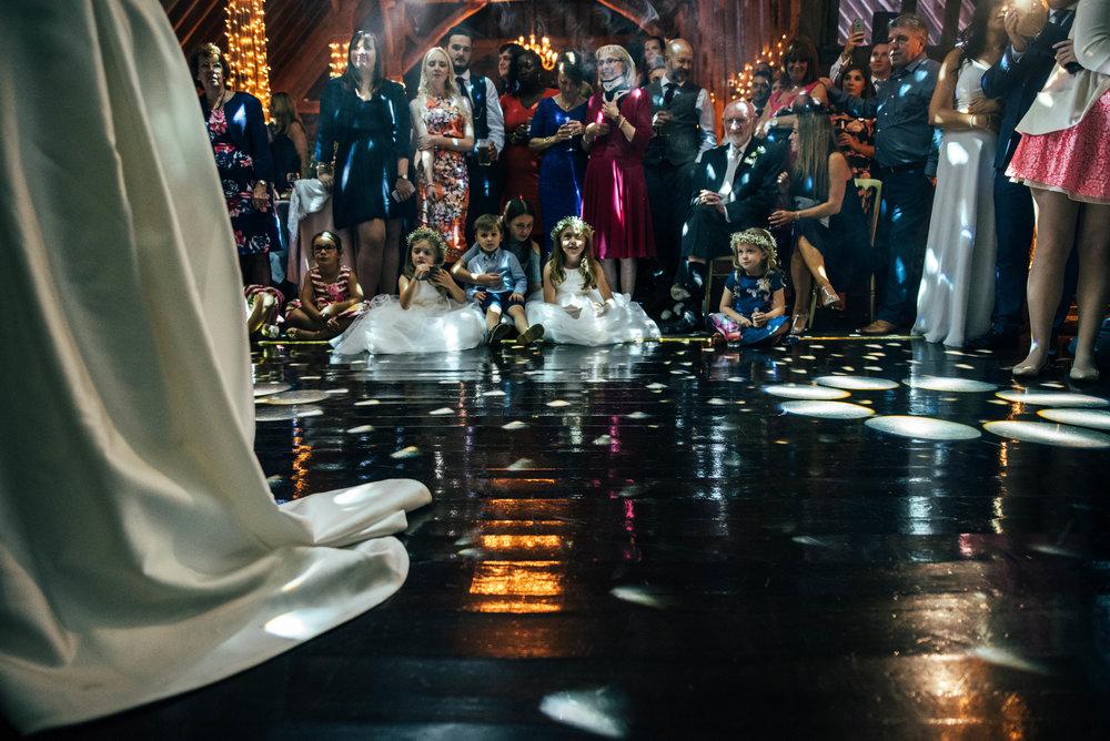 Kids watch First Dance Blake Hall Ongar Essex UK Documentary Wedding Photographer