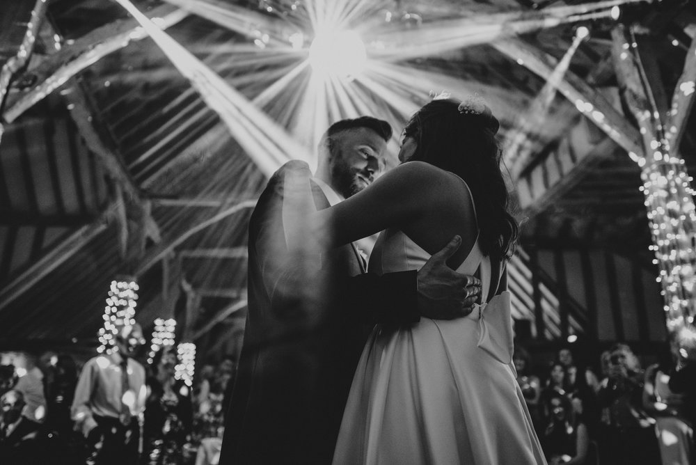 Bride Groom First Dance Brentwood Cathedral Blake Hall Ongar Essex UK Documentary Wedding Photographer
