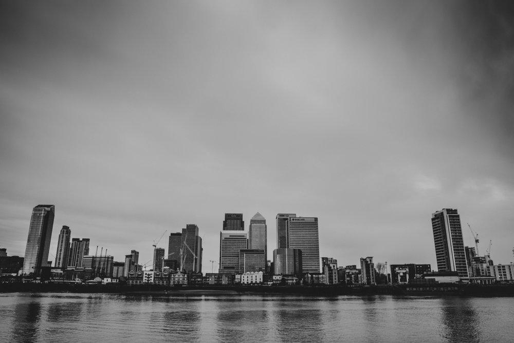 London Docklands Skyline Essex UK Documentary Photographer