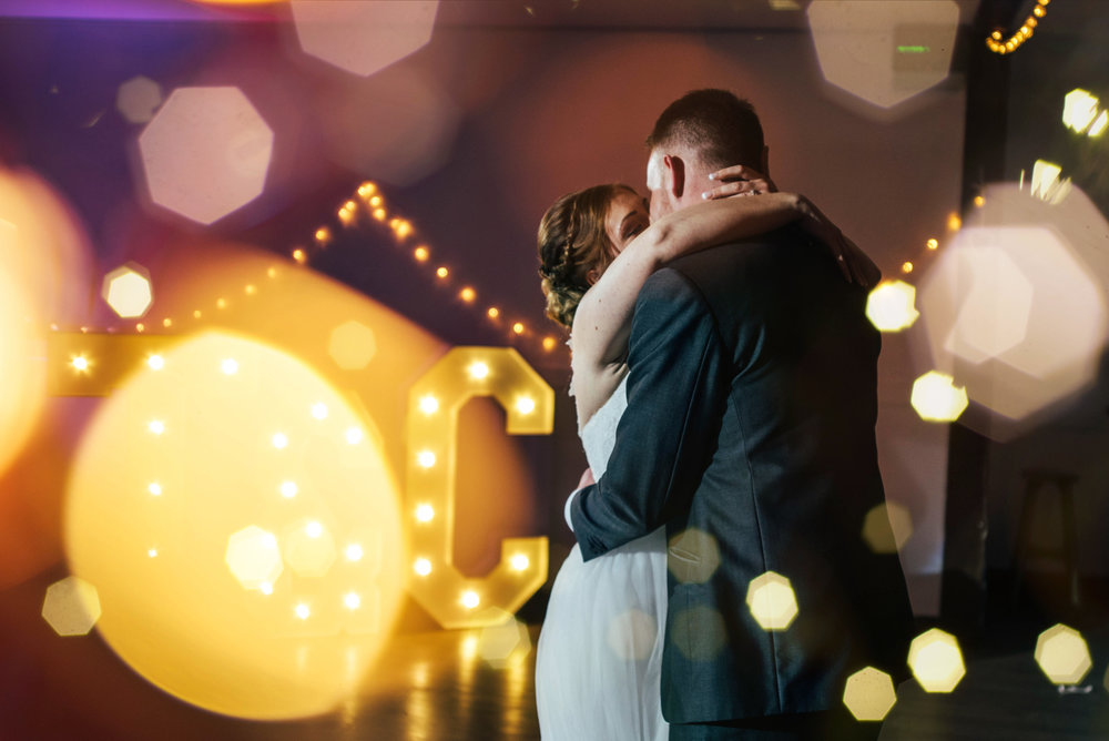 Bride and Groom First Dance Maidens Barn Essex Documentary Wedding Photographer