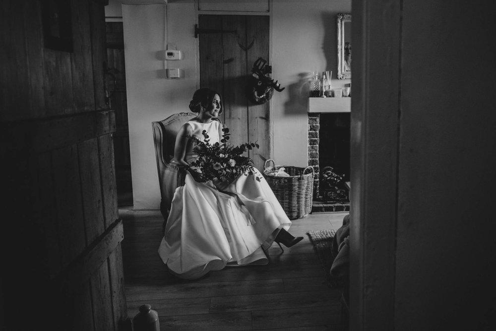 Stylish Elegant DIY Village Hall White and Green Wedding Bride wears Pronovias Three Flowers Photography Essex UK Documentary Wedding Photographer