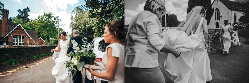 Stylish Elegant DIY Village Hall White and Green Wedding Bride wears Pronovias Three Flowers Photography Essex UK Documentary Wedding Photographer
