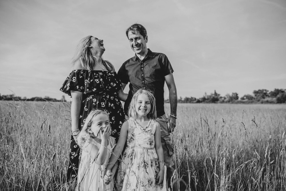 Sunset Pre Wedding Documentary Family Shoot in the Essex Countryside
