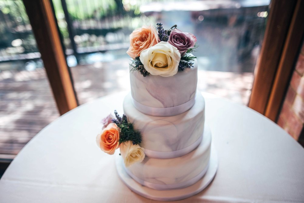 Grey marble wedding cake Grey & Lilacs Rustic Old Brook Barn Wedding Bride wears Enzoani Essex Documentary Wedding Photographerw