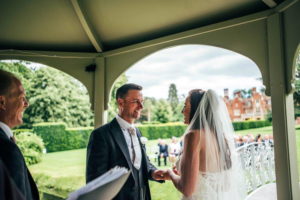 Elegant Longstowe Hall Summer Wedding Bride wears Justin Alexander Essex UK Documentary Wedding Photographer