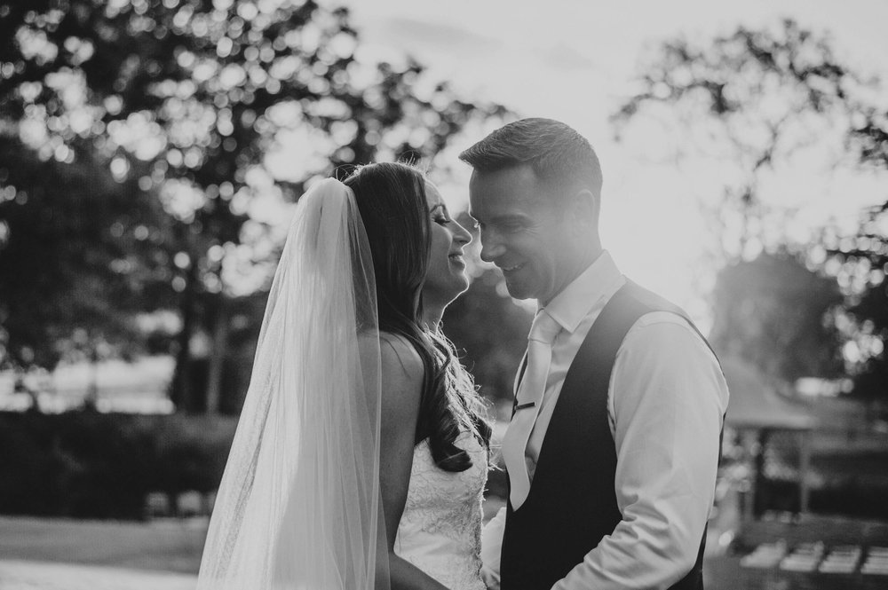 Elegant Longstowe Hall Summer Wedding Bride wears Justin Alexander Essex UK Documentary Wedding Photographer golden hour sunset