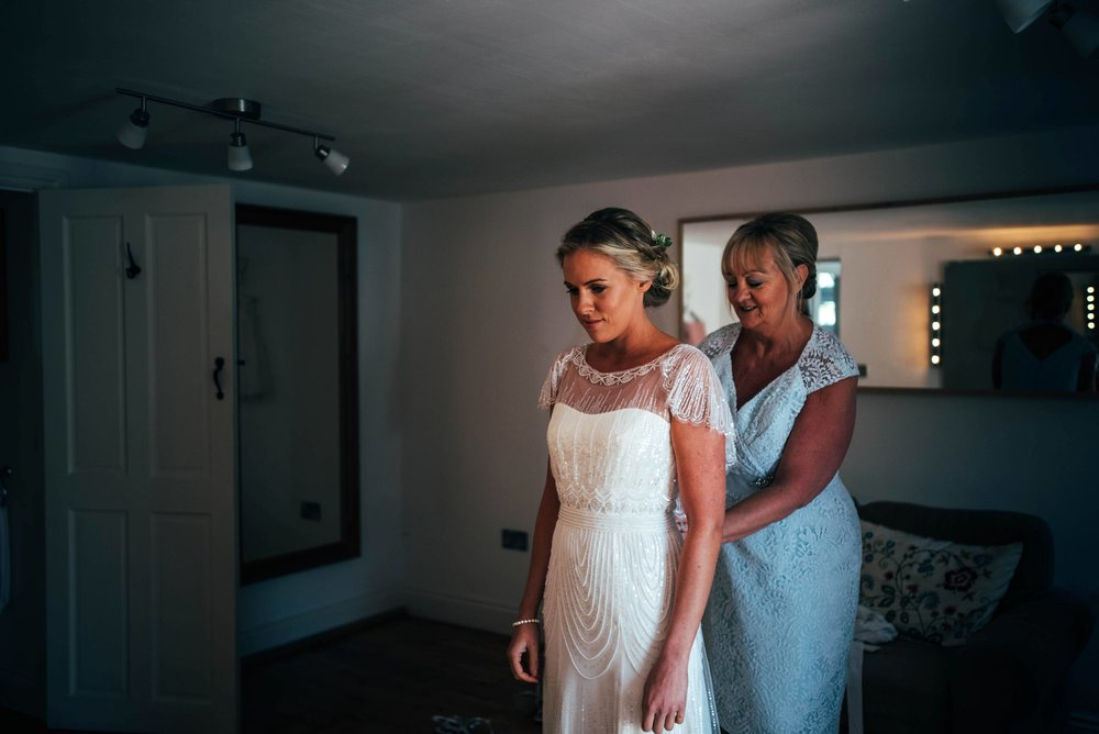 Blush pink rustic barn wedding with touch of elegance, Bride wears Jenny Packham Essex UK Documentary Wedding Photographerwww.threeflowersphotography.co.uk
