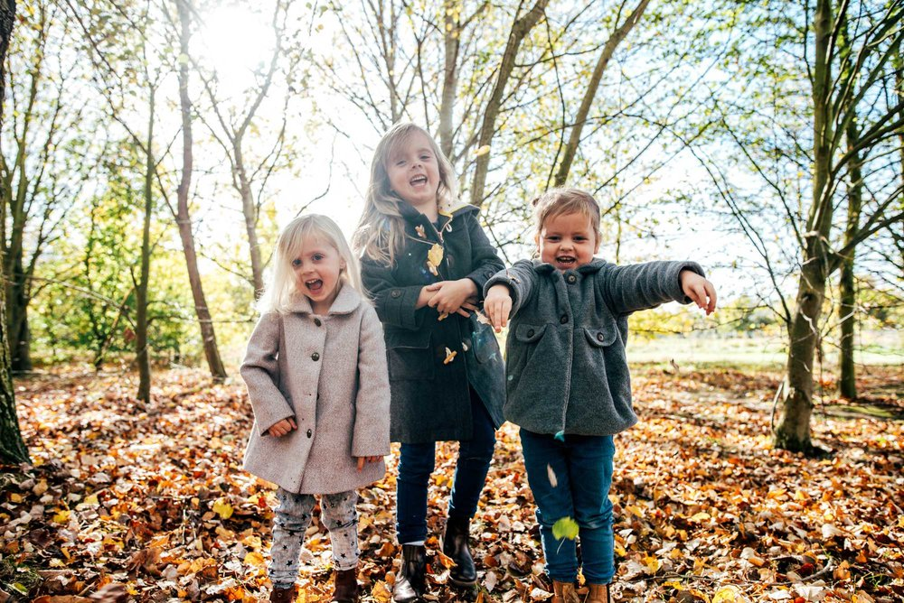Autumn Family Lifestyle Portraits Essex Documentary Wedding Photographer