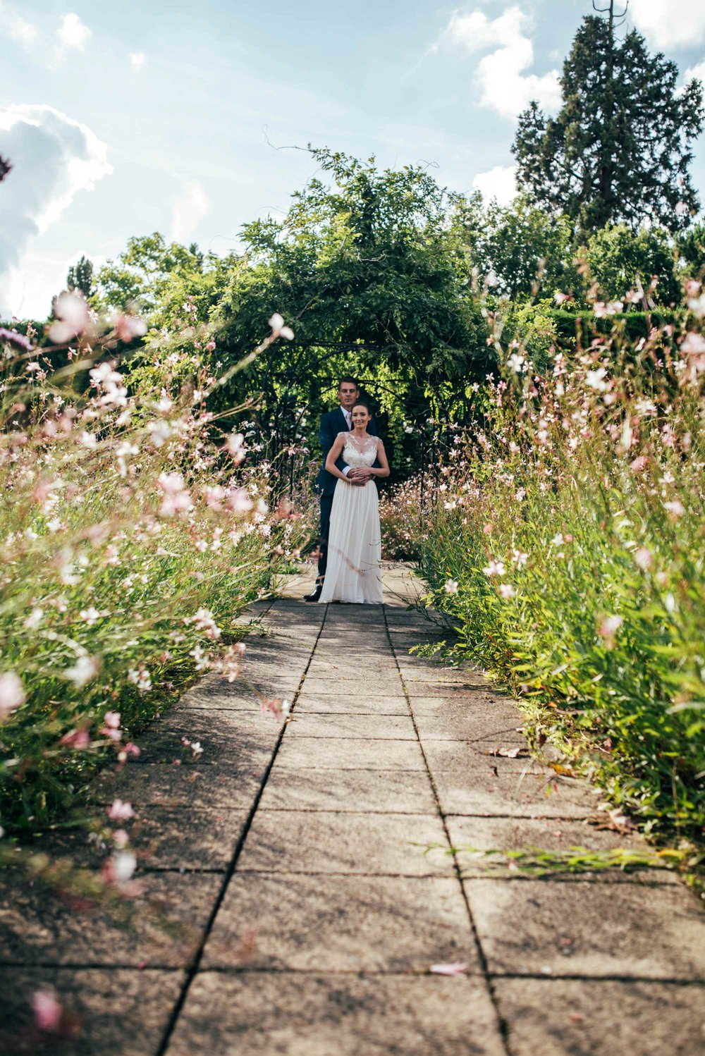 Modern Rustic, Romantic Autumn Wedding at Gaynes Park, Essex. Bride wears Maggie Sottero. Essex Documentary Wedding Photographer.