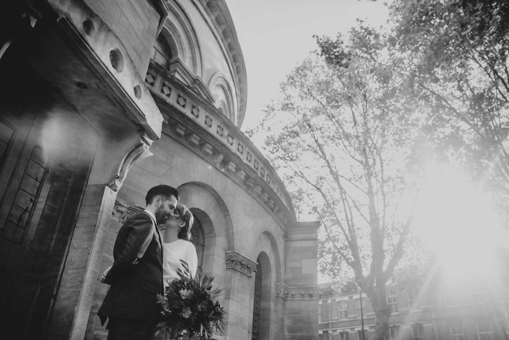 Vintage Botanical DIY Hackney Round Chapel Wedding with Italian Feast, Foliage Hoops, Bride Wears Halfpenny Bridal