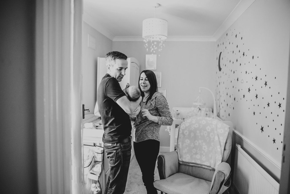Essex Wedding Family Documentary Photographer At Home Newborn Session