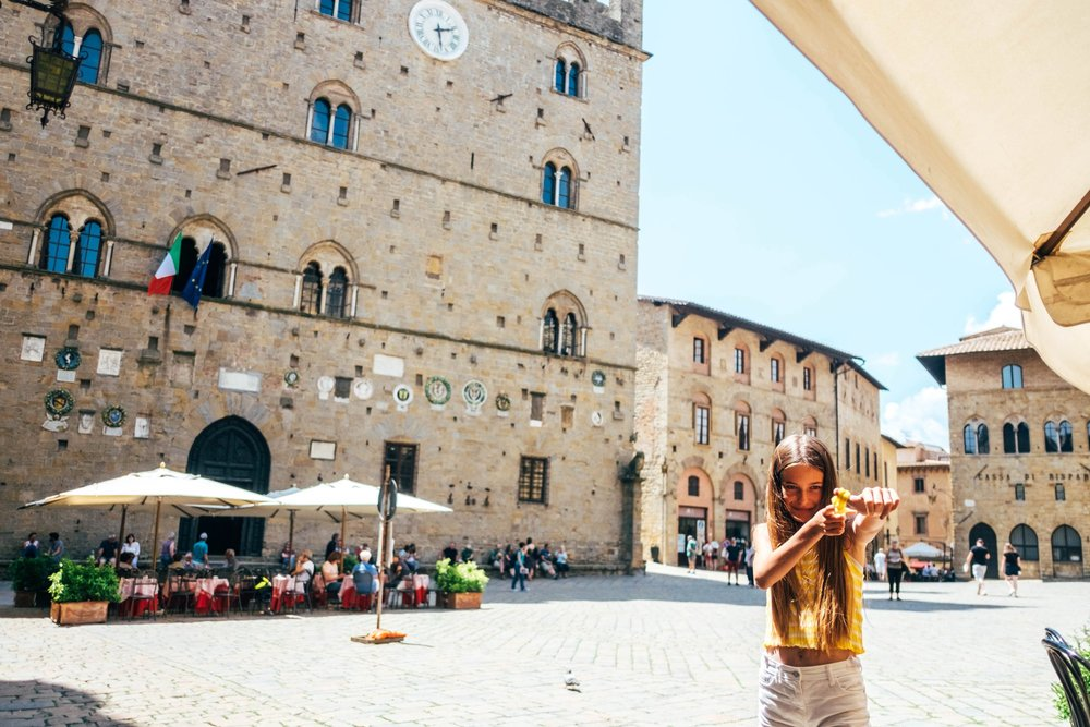 Piazza dei Priori Volterra Essex Documentary Travel Photographer