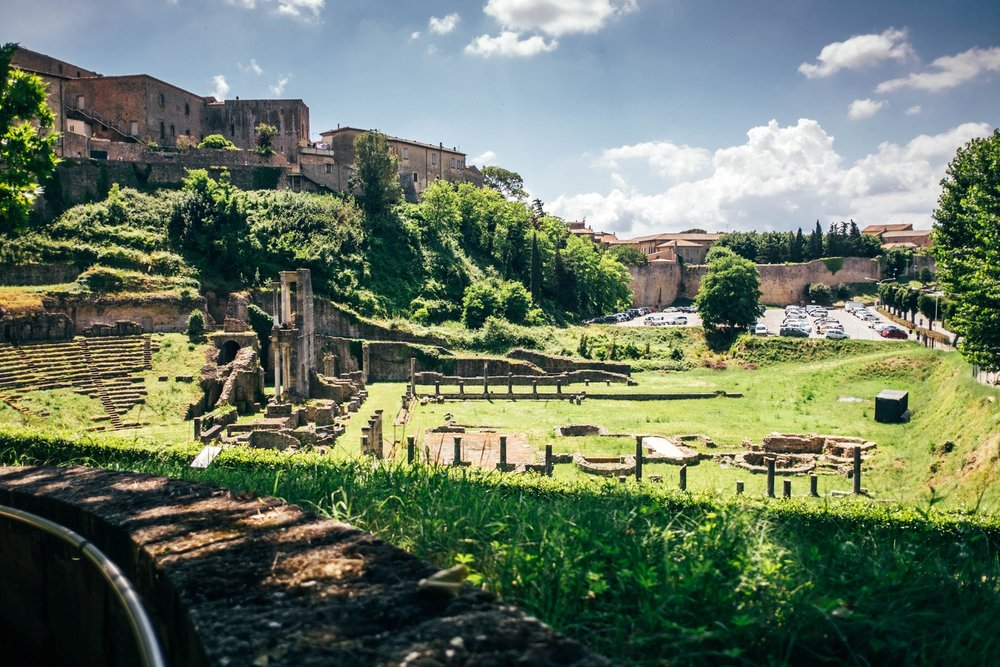 Roman ruins at Volterra Tuscany Essex Documentary Travel Photographer