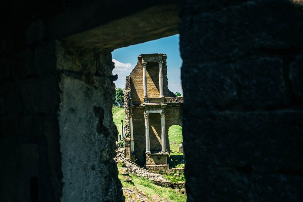 Roman ruins Volterra Tuscany Essex Documentary Travel Photographer