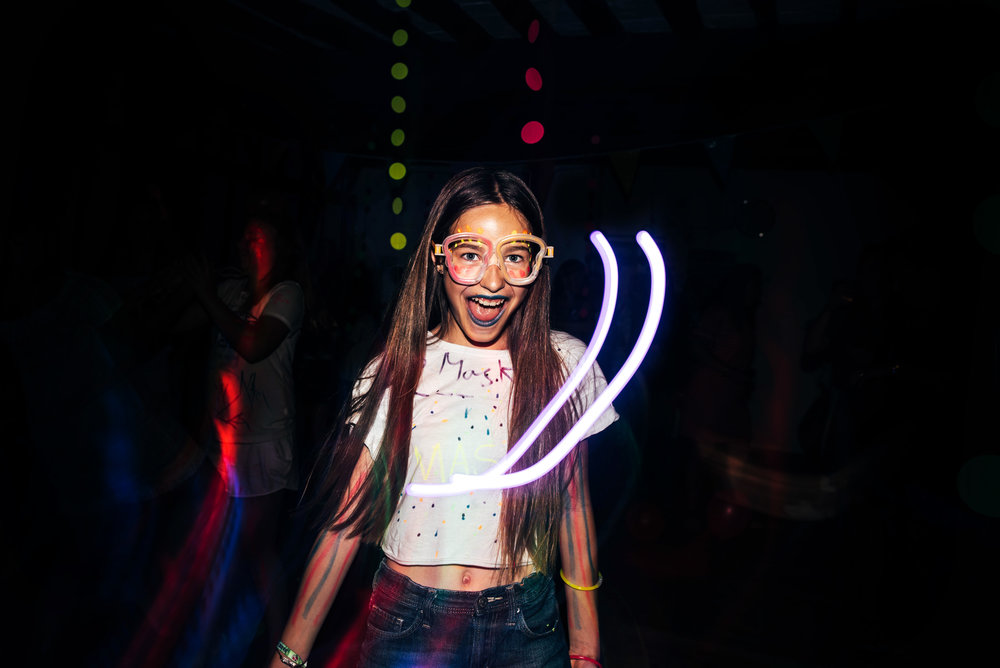 tween girl in UV Disco