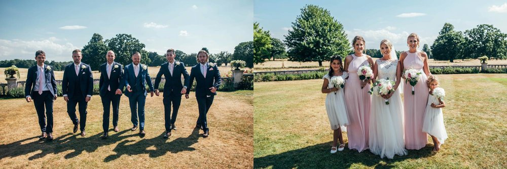 An English Manor House Wedding at Parklands, Quendon Hall. Bride wears Ellis Bridals. Essex Documentary Wedding Photographer