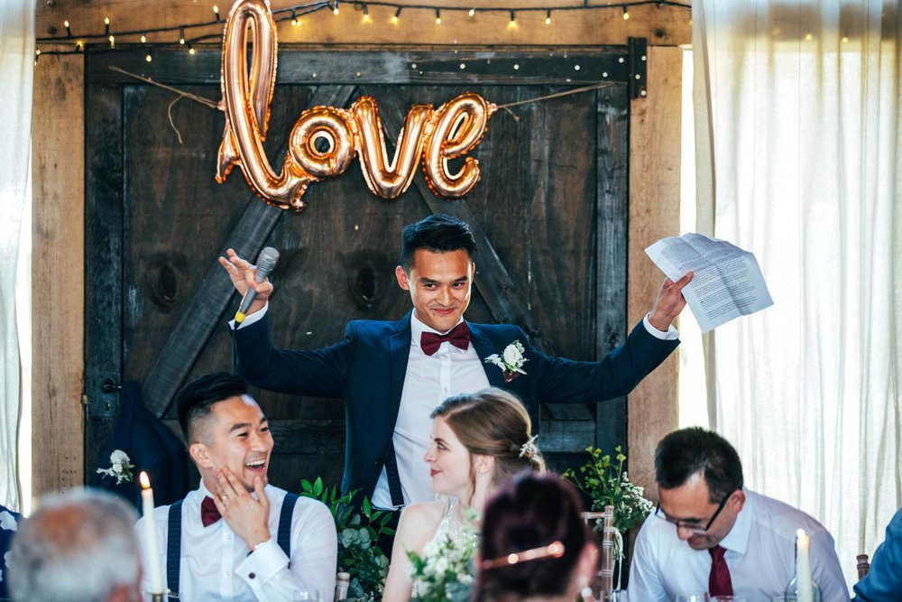 Katie & Dan, a fun-filled, Gin Inspired Wedding at The Long Barn, Newton Valance. Rustic with a Contemporary Twist. Bride Wears Maggie Sottero.