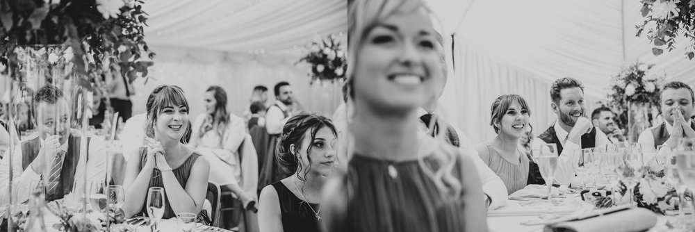 Madeleine & George, a fun-filled wedding at Hedingham Castle with bridesmaids in dusky blue and grey. Essex Documentary Wedding Photographer.