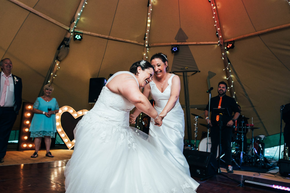 Brides First Dance Tipi wedding at Ingatestone Hall, Essex Documentary Wedding Photographer