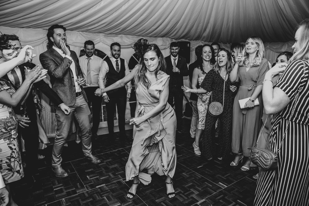 Guests on dance floor, Essex Documentary Wedding Photographer