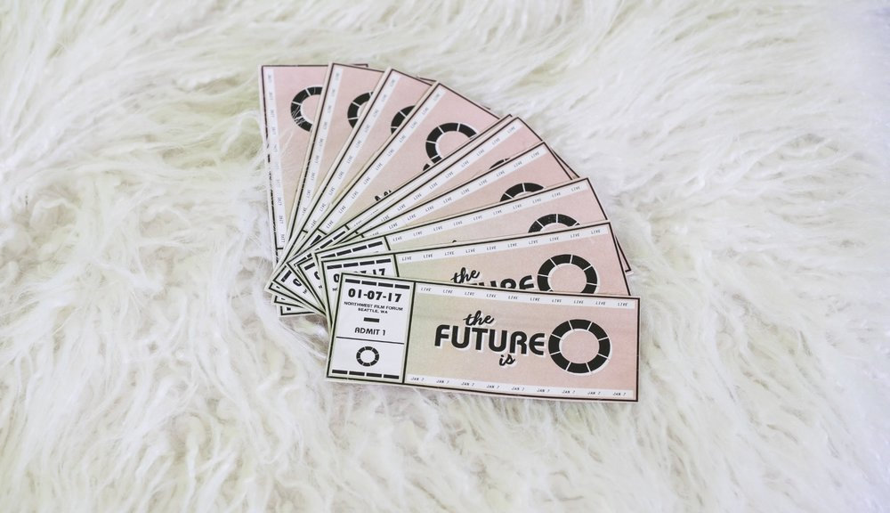 Tickets for the next episode of The Future is 0 are on sale now! Check out www.thefutureis0,com for more details. So excited about these tickets, designed by the one and only Nick Shively