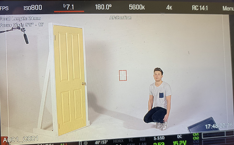 Blaine and a door