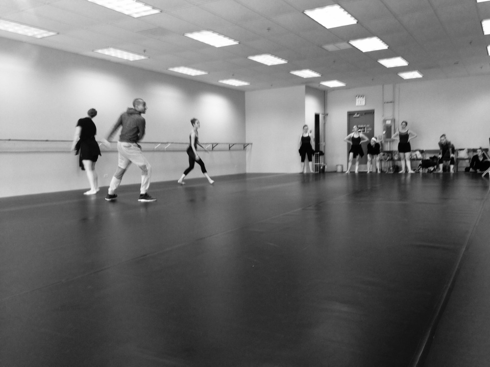 Preston Miller works with Ballet 5:8 company artists (june, 2015)