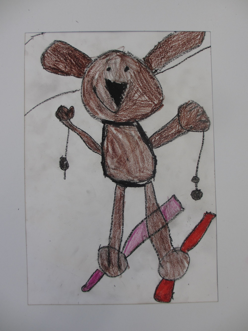 kinder art dog drawing.JPG