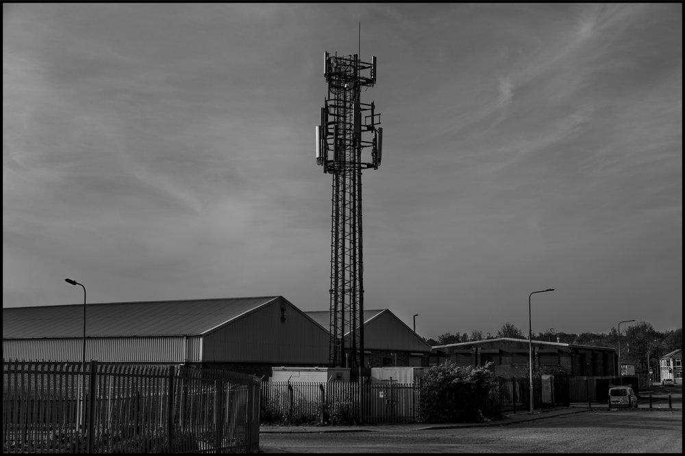 20 April 2019 - Phone mast, Manchester UK