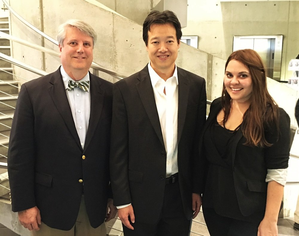 Our Executive Director Hal Bowling pictured with Victor Hwang, Vice President of Entrepreneurship at the Kauffman Foundation and  Allison Reedy, Chief Operations Officer of CO.LAB.